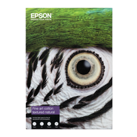 "PAPIER EPSON FINE ART COTTON TEXTURED NATURAL 24"" x 15m 300gr"